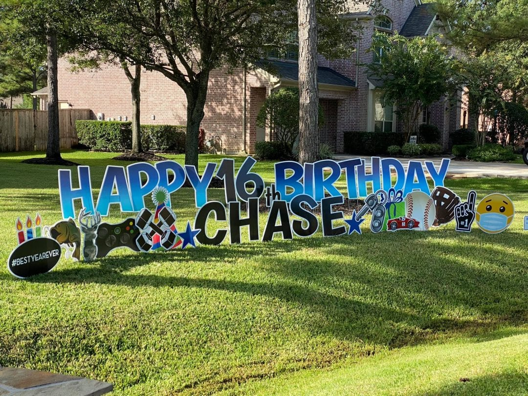 16th Birthday Yard Greeting Spring_The-Woodlands_Tomball