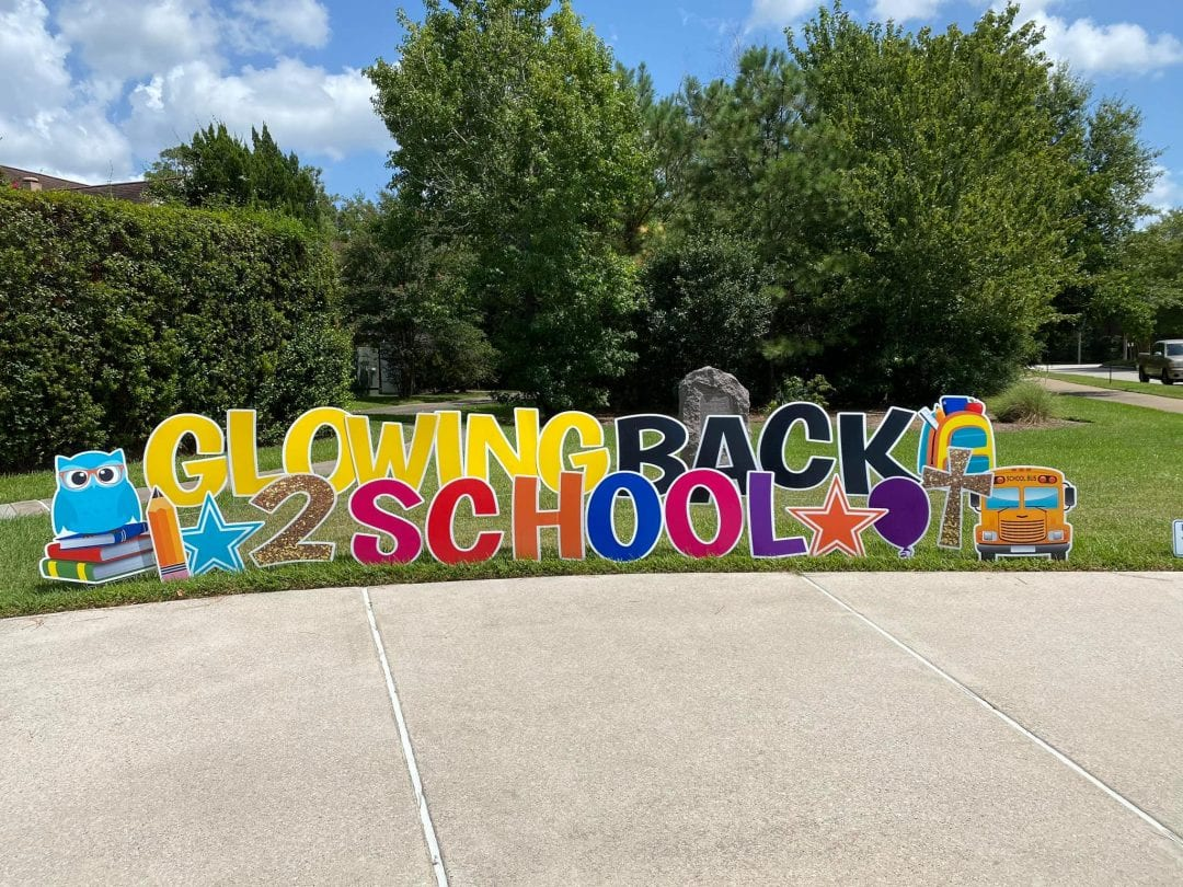 Back to school yard card Spring_The-Woodlands_Tomball