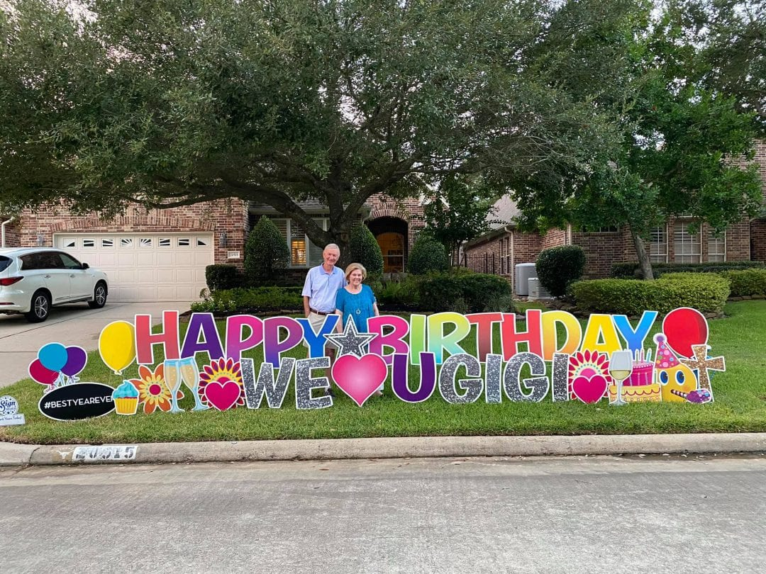 Happy Birthday Yard Card Spring_The-Woodlands_Tomball